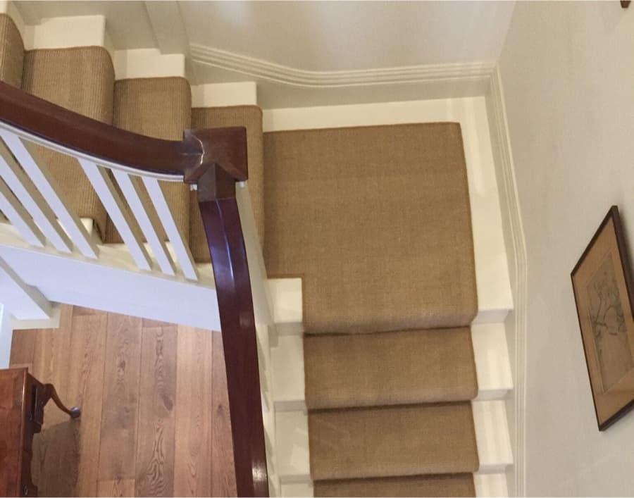 Natural staircase carpet